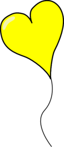 Yellow Heart Balloon - Clear PNG.png